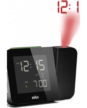 Braun Clocks Projection Alarm Clock Radio Controlled BNC015BKUK-RC