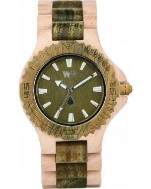 Unisex Wewood Date Beige and Army Watch WWD-DBARM