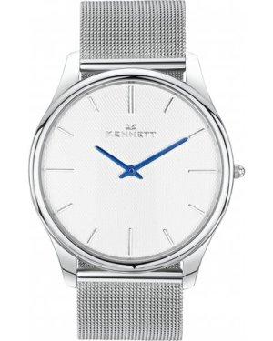 Mens Kennett Kensington Silver White Milanese Watch KSILWHMIL
