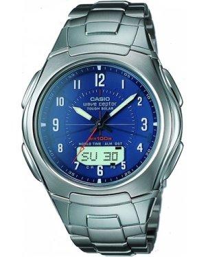 Mens Casio Wave Ceptor Alarm Chronograph Radio Controlled Watch WVA-430DU-2A2VER