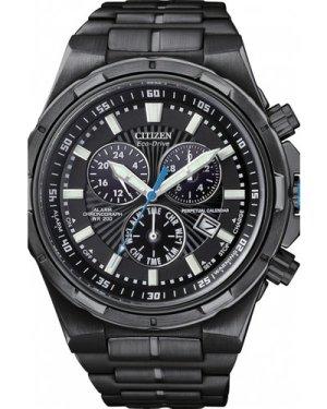 Mens Citizen Perpetual Calendar Alarm Chronograph Eco-Drive Watch BL5435-58E
