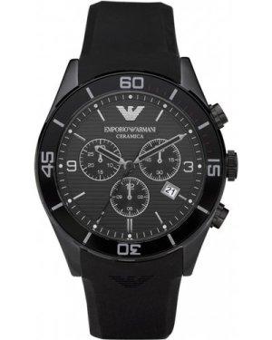 Mens Emporio Armani Ceramica Ceramic Chronograph Watch AR1434