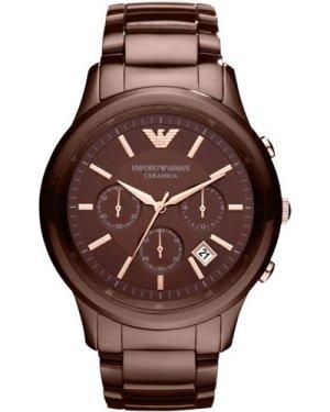 Mens Emporio Armani Ceramic Chronograph Watch AR1454
