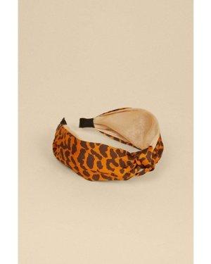 Womens  2 Tone Animal Knot Headband