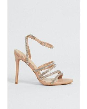 Womens Diamante Strappy Heel