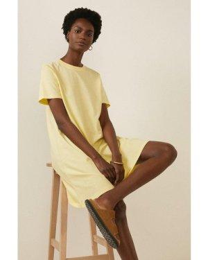 Womens Organic Cotton Trapeze T Shirt Dress