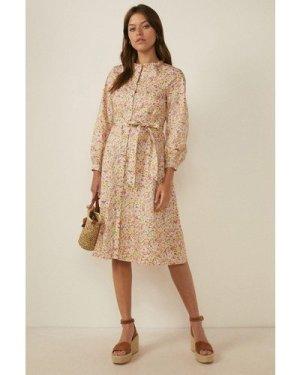 Womens Floral Ditsy Print Shirt Dress