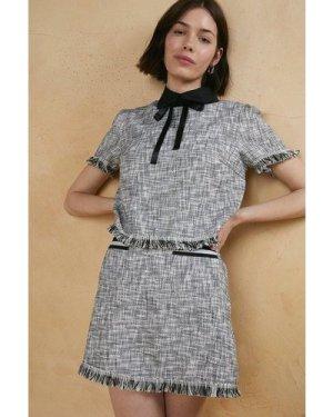 Womens Tweed Detail Skirt