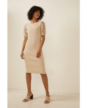 Womens Short Sleeve Lace Dress