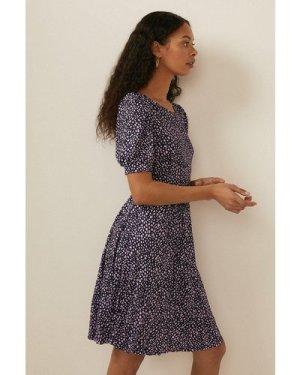 Womens Elma Texture Pleated Mini Dress