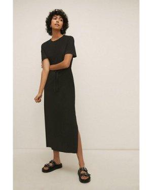 Womens Drawstring Midaxi T-shirt Dress