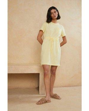 Womens Organic Cotton Drawstring T Shirt Dress