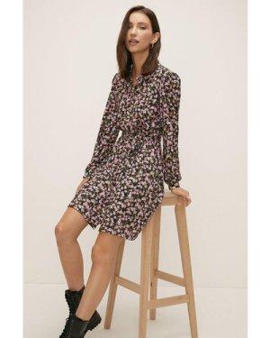 Womens Ditsy Jersey Shirt Dress