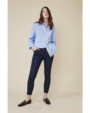Womens Jade Organic Mid Rise Short Skinny Jean