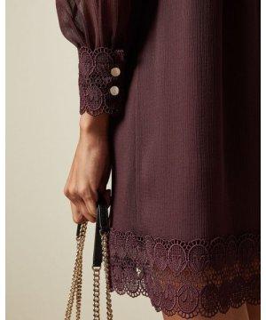 High Neck Long Sleeved Tunic Dress