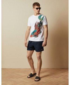 Plain Swim Shorts With Back Pocket
