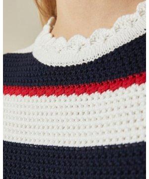 Crochet Striped Sleeveless Top