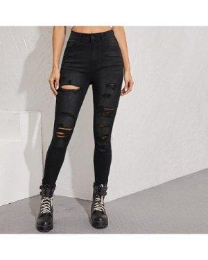 Curvy Dark Wash Push-Up Skinny Jeans