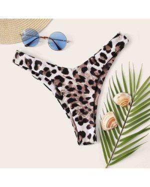 Leopard High Cut Swimming Panty