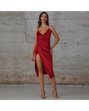 Velvet Wrap Cami Dress