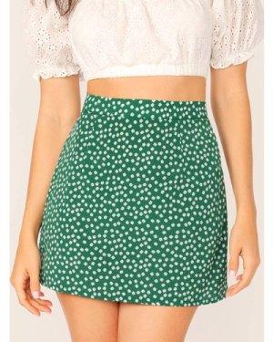 Ditsy Floral Print Skirt
