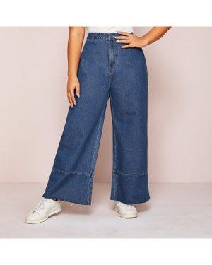 Plus High Waist Wide Leg Jeans