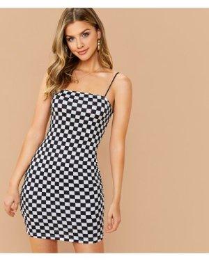 Check Cami Bodycon Dress