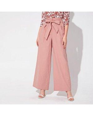 Self Belted Wide Leg Pants