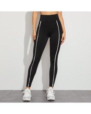 Contrast Striped High-Rise Leggings