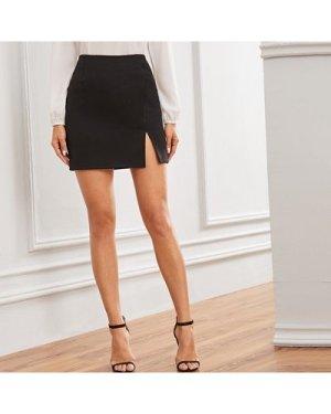 High-Rise Split Bodycon Mini Skirt
