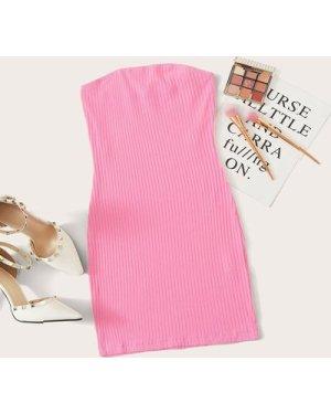 Rib-knit Tube Dress