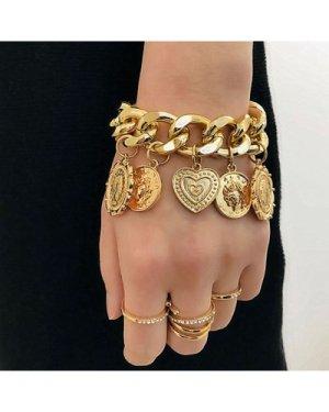 Disc Charm Chain Bracelet 1pc