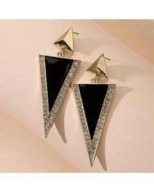 Double Triangle Decor Drop Earrings