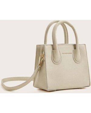 Minimalist Satchel Bag With Double Handle