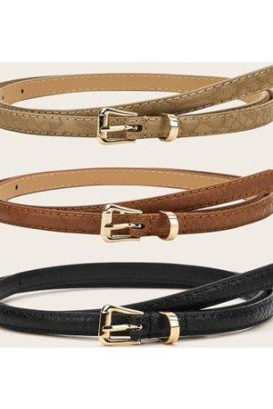 3pcs PU Buckle Belt
