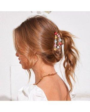Flower Decor Hair Claw
