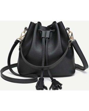 Tassel Decor Bucket Bag