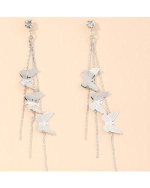 Butterfly Tassel Dangle Earrings