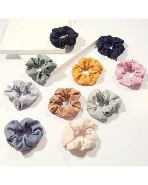 10pcs Solid Scrunchie