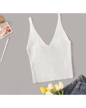 Rib-knit Crop Top