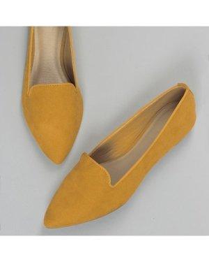 Pointy Toe Slip On Ballet Flats