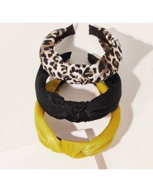 3pcs Leopard Pattern Hair Hoop