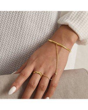 1pc Rhinestone Decor Finger Chain Bracelet