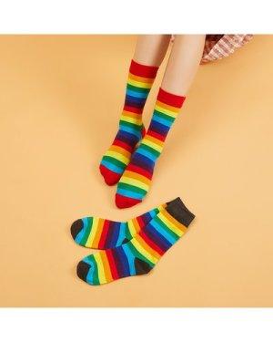 Rainbow Striped Socks
