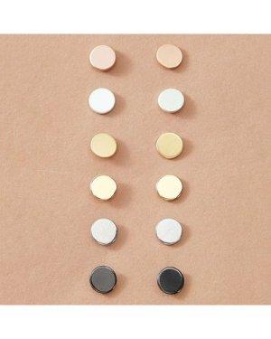6pairs Simple Stud Earrings