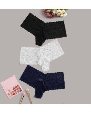 3pack Plus Lace Panty Set