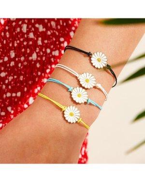 Daisy Decor String Bracelet 4pcs