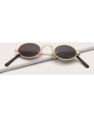 Metal Round Frame Sunglasses