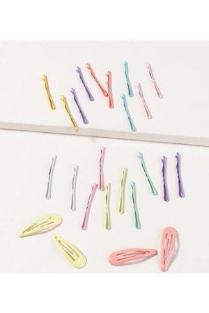 24pcs Colorful Hair Clip & Bobby Pin