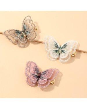 3pcs Butterfly Decor Hair Clip